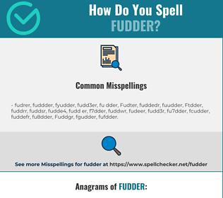 Correct spelling for Fudder