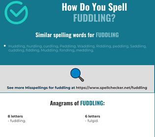 Correct spelling for Fuddling
