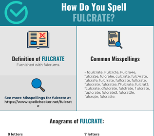 Correct spelling for Fulcrate