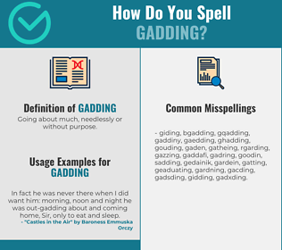 Correct spelling for Gadding