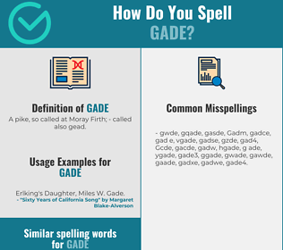 Correct spelling for Gade
