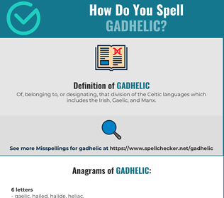 Correct spelling for Gadhelic
