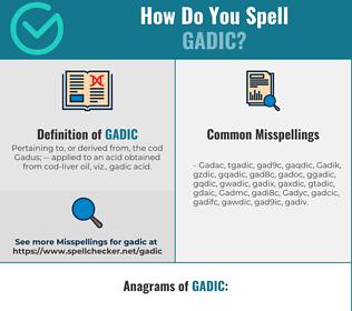Correct spelling for Gadic