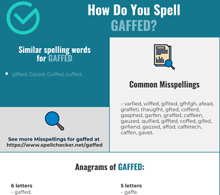 Correct spelling for Gaffed