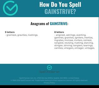 Correct spelling for Gainstrive