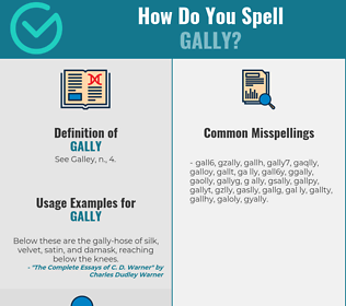 Correct spelling for Gally