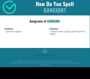 Correct spelling for Gangion