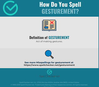 Correct spelling for Gesturement