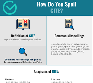 Correct spelling for Gite