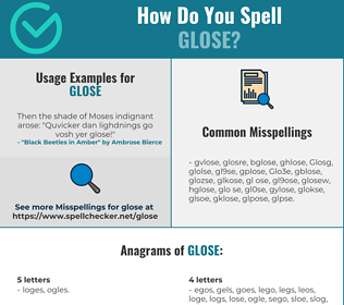 Correct spelling for Glose