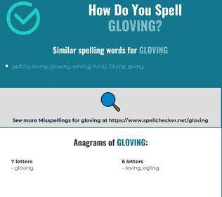 Correct spelling for Gloving