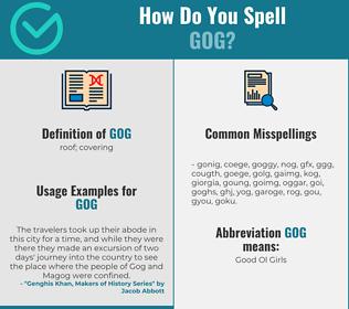 Correct spelling for Gog
