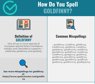 Correct spelling for Goldfinny