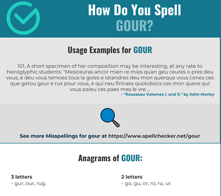 Correct spelling for Gour