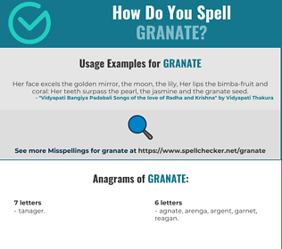 Correct spelling for Granate