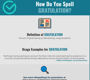 Correct spelling for Gratulation