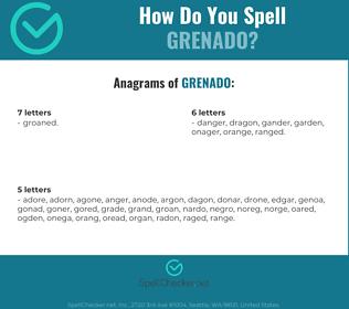 Correct spelling for Grenado