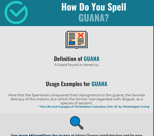 Correct spelling for Guana