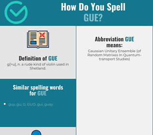 Correct spelling for Gue