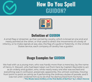 Correct spelling for Guidon