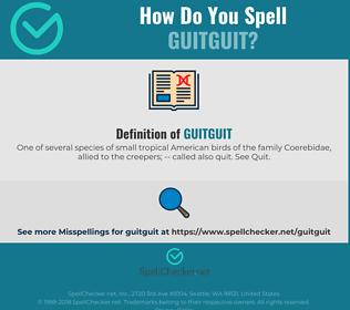 Correct spelling for Guitguit
