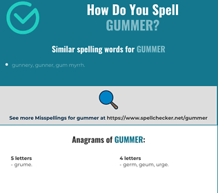 Correct spelling for Gummer