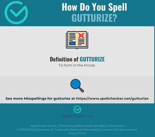 Correct spelling for Gutturize