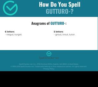 Correct spelling for Gutturo-