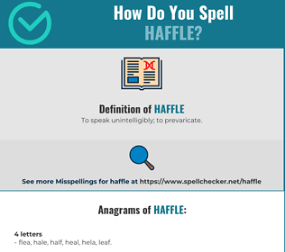 Correct spelling for Haffle
