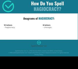 Correct spelling for Hagiocracy