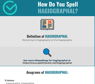 Correct spelling for Hagiographal