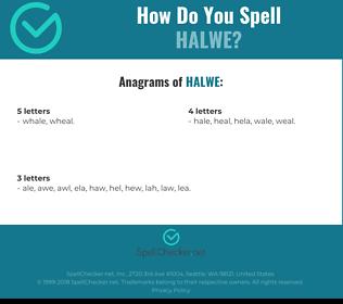 Correct spelling for Halwe