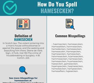 Correct spelling for Hamesecken