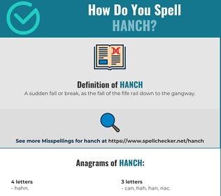 Correct spelling for Hanch