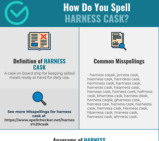 Correct spelling for Harness cask