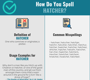 Correct spelling for Hatcher
