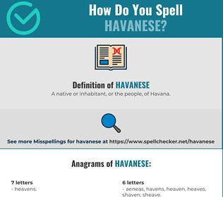 Correct spelling for Havanese