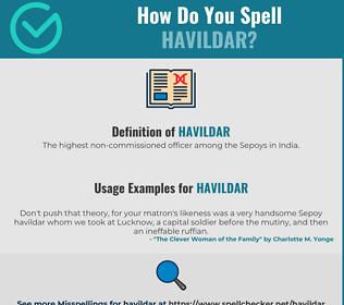 Correct spelling for Havildar