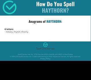 Correct spelling for Haythorn