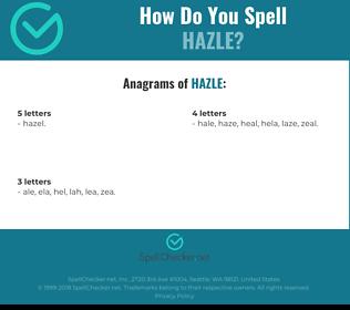 Correct spelling for Hazle