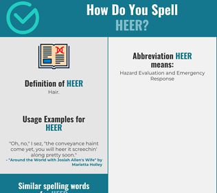 Correct spelling for Heer