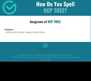 Correct spelling for Hep tree