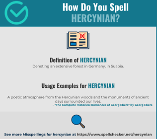 Correct spelling for Hercynian