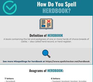 Correct spelling for Herdbook