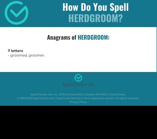 Correct spelling for Herdgroom