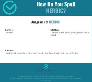 Correct spelling for Herdic