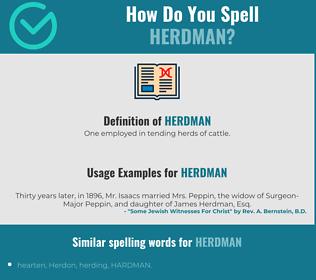 Correct spelling for Herdman