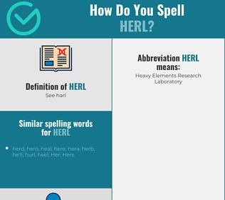 Correct spelling for Herl