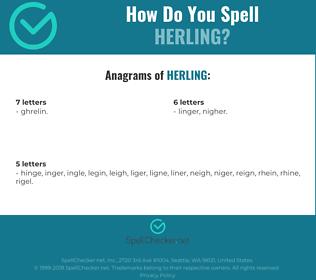 Correct spelling for Herling