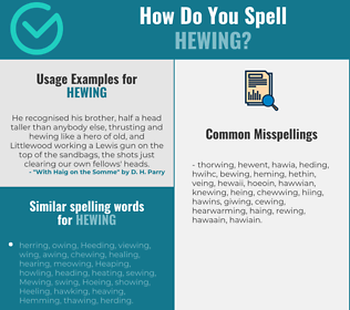 Correct spelling for Hewing